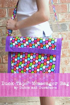 Duct tape messenger bag with DukesandDucesses.com