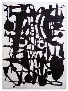 $2200 Modern Decor . Brian Elston #modernart #blackandwhiteabstractpainting