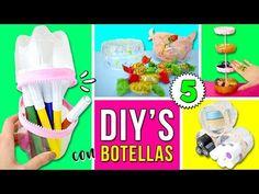 ¡¡5 INCREIBLES Organizadores RECICLANDO BOTELLAS de PLÁSTICO!! * MANUALIDADES de Reciclaje - YouTube