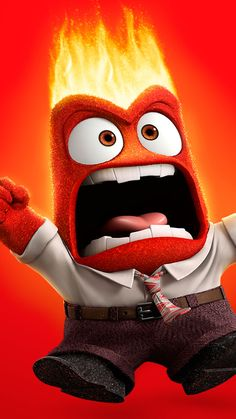 Disney Inside Out Anger iPhone Wallpaper @PanPins