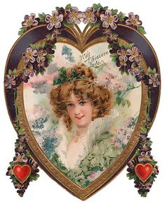 These free vintage Mothers Day clip art images include colorful flowers, and Victorian women and children. Valentines Greetings, Valentine Greeting Cards, Vintage Valentine Cards, Vintage Greeting Cards, Vintage Labels, Vintage Ephemera, Vintage Postcards, Holiday Postcards, Vintage Pictures