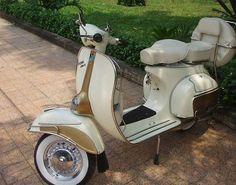 Ivory & Gold 1966 Vespa Scooter