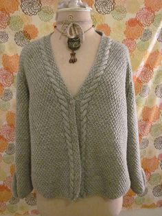 Cable Trimmed Moss Stitch Cardigan...love this now on my ever growing 'to do' list!