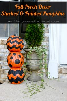 Stacked Pumpkins, Fall Porch Decor