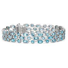 Blue Nile Three Row Blue Topaz Bracelet ($340) ❤ liked on Polyvore featuring jewelry, bracelets, bracelets/bangles, bangle bracelet, blue bangles, hinged bracelet, bracelets & bangles and blue jewelry