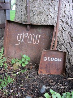 More Than 71 Old Shovels With Painted Sayings Funny Diy Garden Sign Ideas * Old Shovels with Painted Sayings