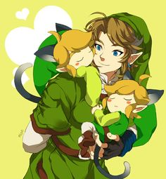 Twilight Link and Toon Link