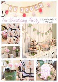1st birthday party (modify for any bday party.  Love the colors!) www.somuchbetterwithage.com