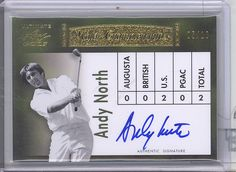 2012 Leaf Ultimate Golf Hand Signed Autograph Andy North D 5 10 U s Open PGA | eBay