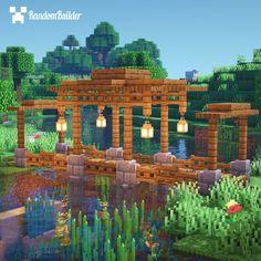Minecraft Roof, Minecraft Bridges, Minecraft Garden, Minecraft Cottage, Minecraft Structures, Cute Minecraft Houses, Minecraft House Tutorials, Minecraft Plans, Amazing Minecraft