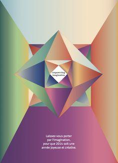 Recherche de carte voeux Kering 2014. Direction Artistique pour Havas, réalisé par Vanessa Fournier Manta
