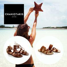 Καλοκαίρι σημαίνει θάλασσα, ήλιος και άνετες εμφανίσεις! Summer means sea, sun and comfortable shoes!  #summer #chaniotakis #shoes #flat #sandals Shoe Collection, Summer Collection, Summer Shoes, Spring Summer, Summer Sneakers
