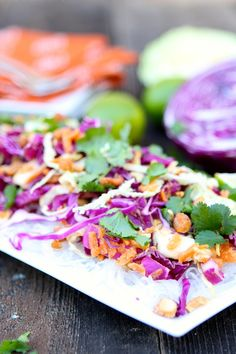 Cabbage and Carrot Salad with Peanut Sauce