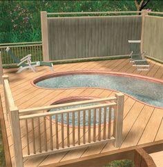 Bagi anda yang mempunyai cita rasa tinggi, bolehlah membina dek berjakuzi di halaman belakang. Visual 3D ini lengkap dengan panel penghadang bagi menghalang  pandangan terus ke kolam mandi set dan sudah tentu bakal menjadi ruang santai kegemaran anda sekeluarga.  Ia bukan sahaja memenuhi keperluan rekreasi keluarga malah mempelbagaikan lagi elemen landskap taman.