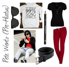 """""""Pete Wentz (Pre-Hiatus)"""" by music-clothes ❤ liked on Polyvore featuring Morgan, Daytrip, Givenchy, Filson and Cheap Monday"""