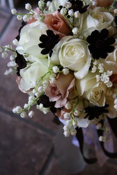Roses, lily of the valley,cosmos
