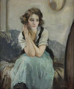 Image de women, painting, and francis edwin hodge
