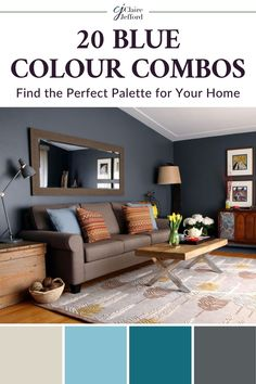 Looking for the perfect colour combination for your home? Get some colour inspiration from these 20 blue colour combos! Create the perfect colour palette for your home with no stress.