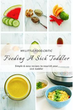 Feeding A Sick Toddler Toddler Finger Foods, Easy Snacks For Kids, Healthy Toddler Meals, Healthy Kids, Kids Meals, Sick Toddler, Sick Baby, Sick Kids, Toddler Food
