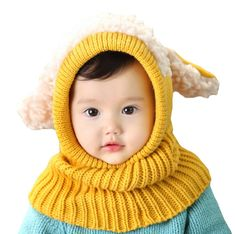 Buy Siamese Puppy Scarf Winter New Baby Hat Wool Hat Winter Hat Hot Sale Beanie Hat Hooded Scarf Earflap Knit Cap Toddler Cute at Wish - Shopping Made Fun Boys Winter Hats, Warm Winter Hats, Baby Winter, 2015 Winter, Winter Kids, Crochet Beanie, Knitted Hats, Dog Crochet, Newborn Crochet