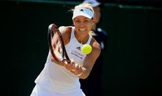 Angelique Kerber of Germany in action at the 2017 Wimbledon Championships at the All England Lawn and Croquet Club in London.