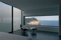 AIBS, Baleari, 2010 - Atelier d'Architecture Bruno Erpicum & Partners #windows #landscape #vitra #sofa #chair