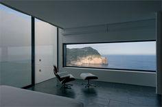 AIBS, Baleari, 2010 - Atelier d'Architecture Bruno Erpicum & Partners #windows #landscape #vitra #sofa #chair