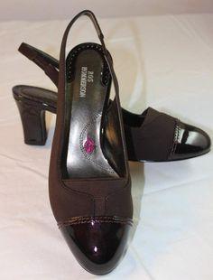 204cdc610ece Ros Hommerson Women s Brown Heels Slingbacks sz 6 Patent Toe Comfort  Stretch  RosHommerson  Slingbacks