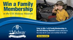 Enter to win a family membership to the USS Midway Museum. #utcontests