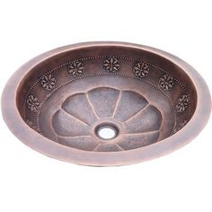 Flat Rimmed Thin Star Design Self-Rimming Bathroom SinkThis is a hand hammered thin star design. Made from 16-gauge copper, this sink can be installed undermount or top mount adding traditional and elegant style to your bathroom.   Hand hammered copper  Flat rimmed  Centered 1.5'' drain placement