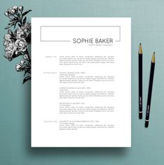 modern resume template cv template cover letter for ms word professional resume template instant digital download mac pc sophie
