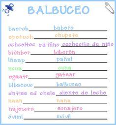 Juegos de baby shower para imprimir con respuestas - Imagui