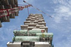 Bosco Verticale, or Vertical Forest, Milan, Italy  by:  Boeri Studio under construction