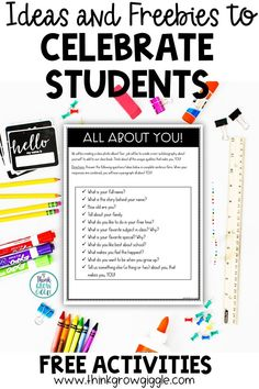 Calling all upper elementary teachers! Celebrate your students and their names this back-to-school season with these fun and inclusive lesson ideas and freebies that you will love to add to your first week of school lesson plans! Read this quick blog post and grab these activities to make getting to know your students a real celebration! Perfect for 3rd, 4th, and 5th grade classrooms! Click to read more and scoop up some fun and free activities! @thinkgrowgiggle Elementary Teacher, Upper Elementary, School Week, Back To School, Free Teaching Resources, Free Activities, The Name Jar, Teacher Freebies