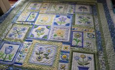 These two quilts are Sandy's.  They were block of the month quilts and Sandy did two at the same time!!  Way to go! ...