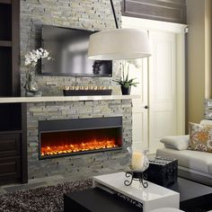 Wall Mounted Fireplace, Linear Fireplace, Ethanol Fireplace, Fireplace Inserts, Fireplace Mantle, Fireplace Design, Granite Fireplace, Fireplace Ideas, Electric Fireplace Reviews