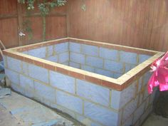 Outdoors Discover Top of wall finished with bricks to achieve correct height Jacuzzi Outdoor Outdoor Baths Modern Hot Tubs Piscine Diy Breeze Block Wall Hidden Pool Small Backyard Pools Soaker Tub Plunge Pool Backyard Plan, Small Backyard Pools, Jacuzzi Outdoor, Outdoor Baths, Oberirdische Pools, Piscine Diy, Breeze Block Wall, Hidden Pool, Container Pool