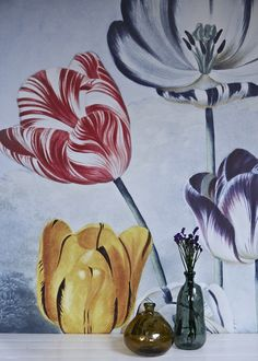 'Tulips'Mural - Natural History Museum Collection from £65 per sq/m   Shop Canvases & Wall Murals at surfaceview.co.uk