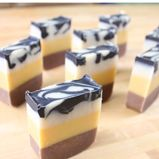 Cold Process Soap recipes and ideas. We've been making our own soap for several months (super easy to do!). We've done nothing this fancy but it would be fun to try!