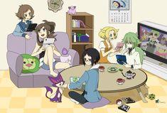 bel chandelure cheren clefairy ds iris_(pokemon) klink litwick n pokemon purrloin satoshi_(pokemon) sei_(shinkai_parallel) solosis touko_(pokemon) touya tympole