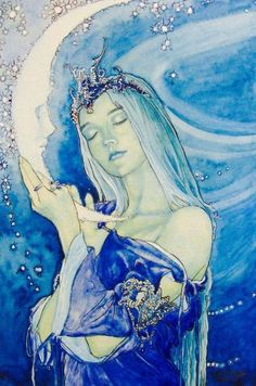 la lune - your secrets exposed The Maiden (part of the Ironteeth witches' Three-Faced Goddess) Art Inspo, Kunst Inspo, Inspiration Art, Art And Illustration, Moon Goddess, Luna Goddess, Goddess Art, Star Goddess, Goddess Of Love