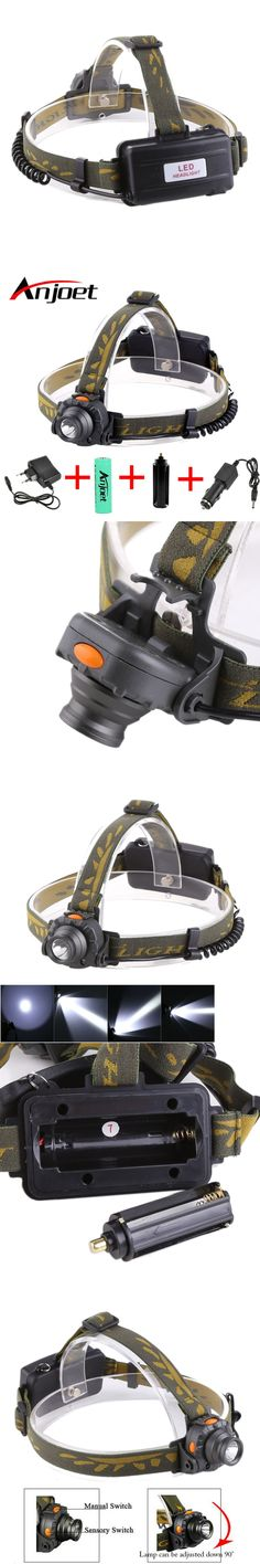 IR Sensor Head Torch Waterproof Rechargeable Cree LED Headlamp Headlight Camping Hunting Lamp 18650 battery +Charger+Car charger