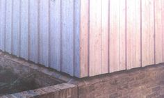 Nice detail how timber meets brick plinth without crrating cill. David mikhail architects, church walk.
