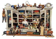A Plentifully-Filled German Wooden Toy Store by Gottschalk; circa 1900.
