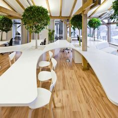 clean + natural + modern - OpenAD's green forrest office | via Fresh Work Spaces ~ Cityhaüs Design