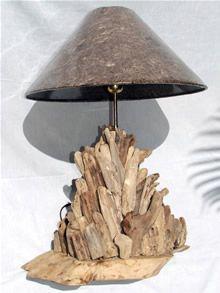 REVE DE PLAGE-lampe en bois flotté, vente de lampe en bois flotte, luminaire en bois flotté, lampe deco nature, decoration achat vente en ligne