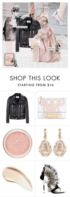 """""""Good girls like bad boys."""" by e-laysian ❤ liked on Polyvore featuring Acne Studios, Valentino, Moschino, Suzanne Kalan, Burberry and Diego Dolcini"""