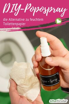 Popospray selber machen – ersetzt feuchtes Toilettenpapier The alternative to damp toilet paper: The DIY Popospray protects the environment, is kind to the skin and can also be inexpensively and easily made by yourself. Diy Savon, Diy Wall Shelves, Diy Home Decor Projects, Neutrogena, Natural Cosmetics, Diy Beauty, Beauty Tips, Beauty Care, Clean House
