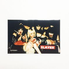 Supreme Slayer collaboration Logo Vinyl Sticker 100% AUTHENTIC Free Shipping #Supreme