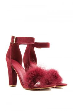 WHAT DOES THE CAT SAY FUR DETAIL HEELED SANDAL
